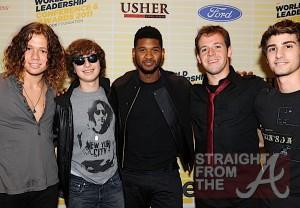 Usher and Zach Allen, Dylan Brenner, Tim Holmes and Wyatt