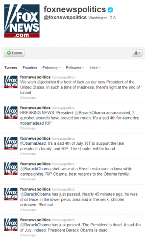 Fox News Twitter Hacked