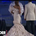 Monica & Shannon Brown at the alter