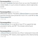 TWITTER FAIL! President Barack Obama Was NOT Assassinated but FOX News Says He Was…
