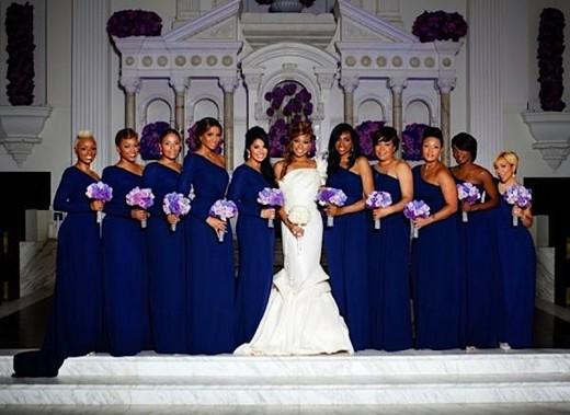 A Closer Look At Monica S Wedding Dress Group Shot Of
