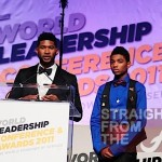 Usher and co-host Nadji Jeter.