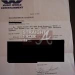 Farrah Franklin Termination Letter