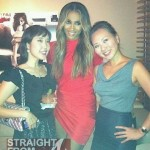 Ciara in Red with fans 1