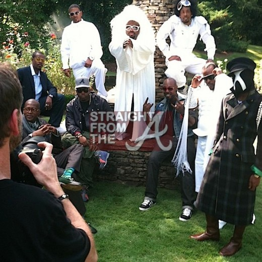 Big Boi Andre 3000 and The Dungeon Family at GQ Magazine Photo Shoot