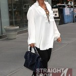 Queen B Baby Bump Watch 2011 ~ Beyonce's Belly Covered in White… [PHOTOS]