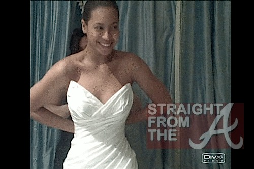 Beyonce reveals sneak peek of her wedding dress from the 2008 private