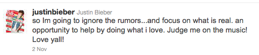 Bieber Tweet
