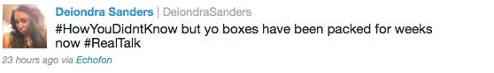 Deiondra Sanders Tweet