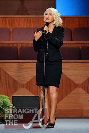 Christina Aguilera Etta James Funeral