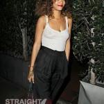 Rihanna See Through Tank in LA 012512