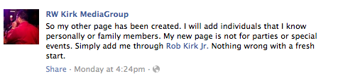 Robert Kirk Facebook