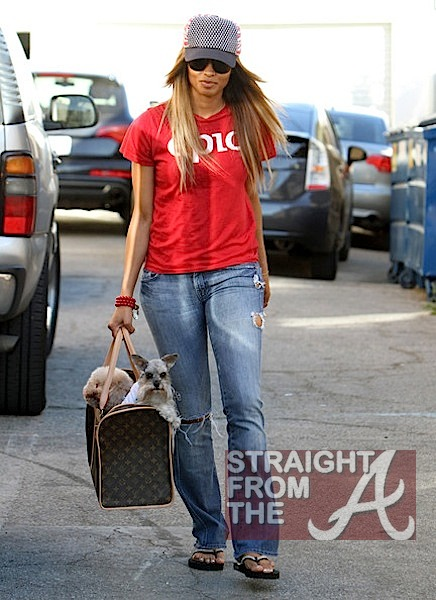 Ciara and Pups in LA 020912-1