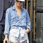 Hot or Not? Rihanna's Studded Denim Ensemble… [PHOTOS]