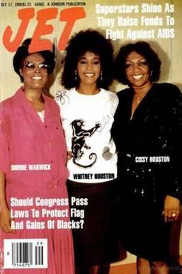 Whitney Houston Dionne Warwick Cissy Houston Jet Cover