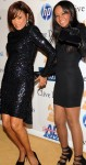 Whitney Houston and Bobbi Kristina Brown arrive at pre-Grammy gala honoring David Geffen in Beverly Hills, California