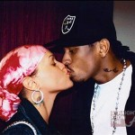 Allen and Tawanna Iverson kiss