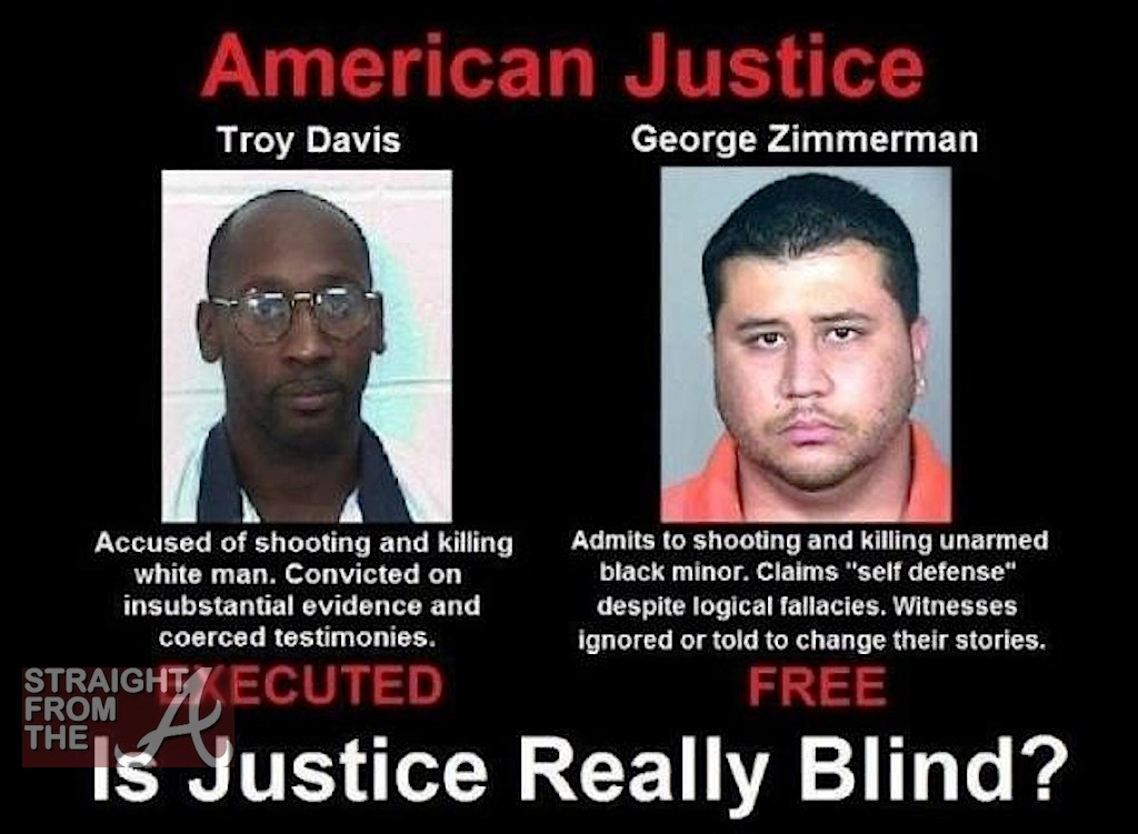 Is Justice Blind Trayvon Martin Protest Straight From