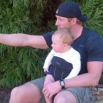 Kroy Biermann and Baby KJ