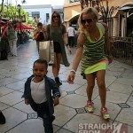 Keyshia Cole Gibson Family Outing 041812-4