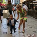 Keyshia Cole Gibson Family Outing 041812-6