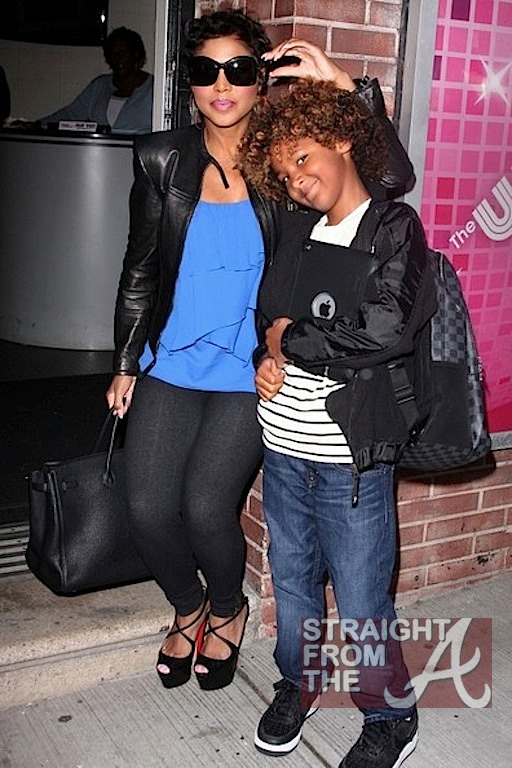 spotted toni braxton amp son hit the wendy williams show