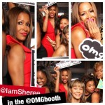 Sheree whitfield OMG Booth