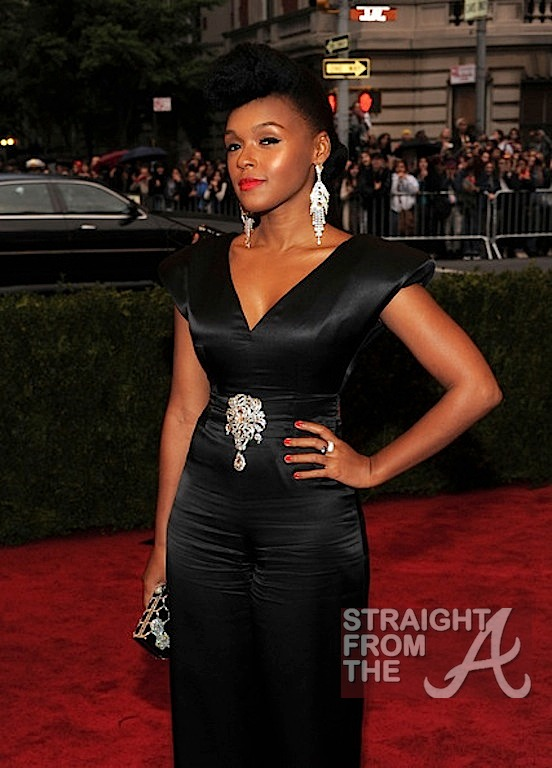Straight From The Factory With Clint Black S Guitar: Janelle Monae: Picture Perfect On The MET Red Carpet
