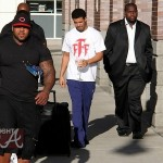 Chill-Axin! Drake Spotted Leaving Boston Hotel + Chris Brown's Online Reaction to Bottle Incident.. [PHOTOS]