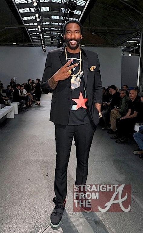 Amare Stoudemire Givenchy 2012 Paris Fashion Week