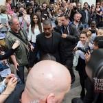 Kanye Kim Kardashian in Paris 070312-1