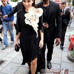 Kanye Kim Kardashian in Paris 070312-10
