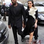 Kanye Kim Kardashian in Paris 070312-15