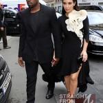 Kanye Kim Kardashian in Paris 070312-3
