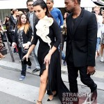 Kanye Kim Kardashian in Paris 070312-5