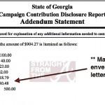 lane campaign contribution disclosure 2008