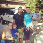 Pic of the Day: Usher & Grace… One Big Happy Family!