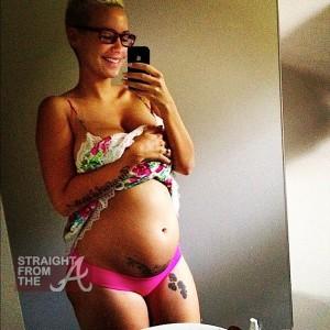amber rose pregnant belly sfta