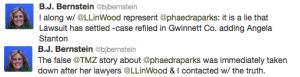 BJ Bernstein Phaedra Parks Tweet 1
