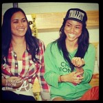 Karuche Tran and Friend - Chris Brown Celeb Bball Game SFTA-5