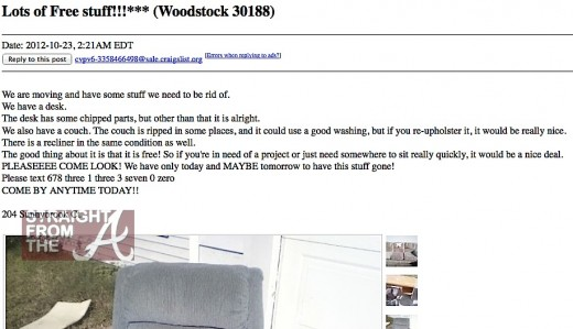 craigslist fail or user error foreclosed family s home ransacked after ad posting photos. Black Bedroom Furniture Sets. Home Design Ideas