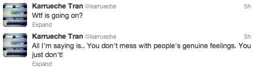 Karruche Tran Tweets