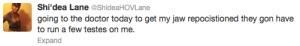 Shi'dea Lane tweet 101612