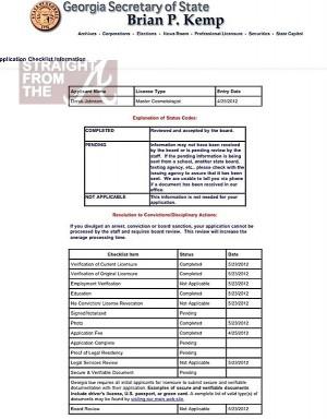 derek j license application