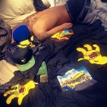 Chris Brown in RIhanna Bed