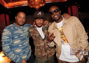 Jason Geter, T.I. & Rico Love at Moet Rose Lounge Miami