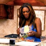 Kenya Moore pretend cooking