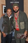 Kevin Liles and the Lifestyle Specialist Kenny Burns in the GREY GOOSE Cherry Noir VIP Bar at the Trey Songz Chapter V Tour - Atlanta