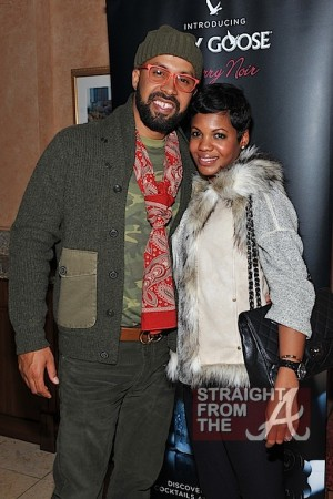 The Lifestyle Specialist Kenny Burns and his wife in the GREY GOOSE Cherry Noir VIP Bar at the Trey Songz Chapter V Tour - Atlanta