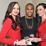 Trey Songz and GREY GOOSE spokesmodels in the GREY GOOSE Cherry Noir VIP Bar at the Chapter V Tour - Atlanta